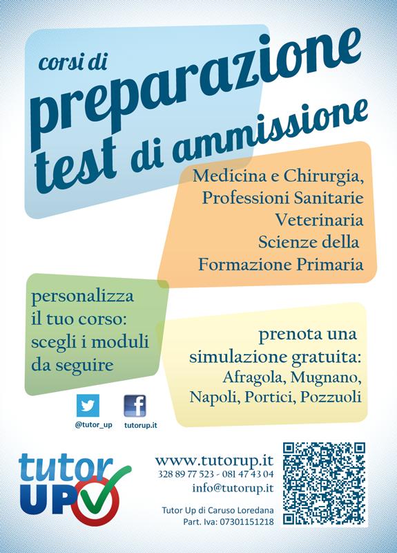 Test di ammissione tutor up preparazione test di for Test di medicina simulazione