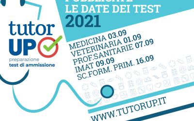 Le date dei test di ammissione 2021